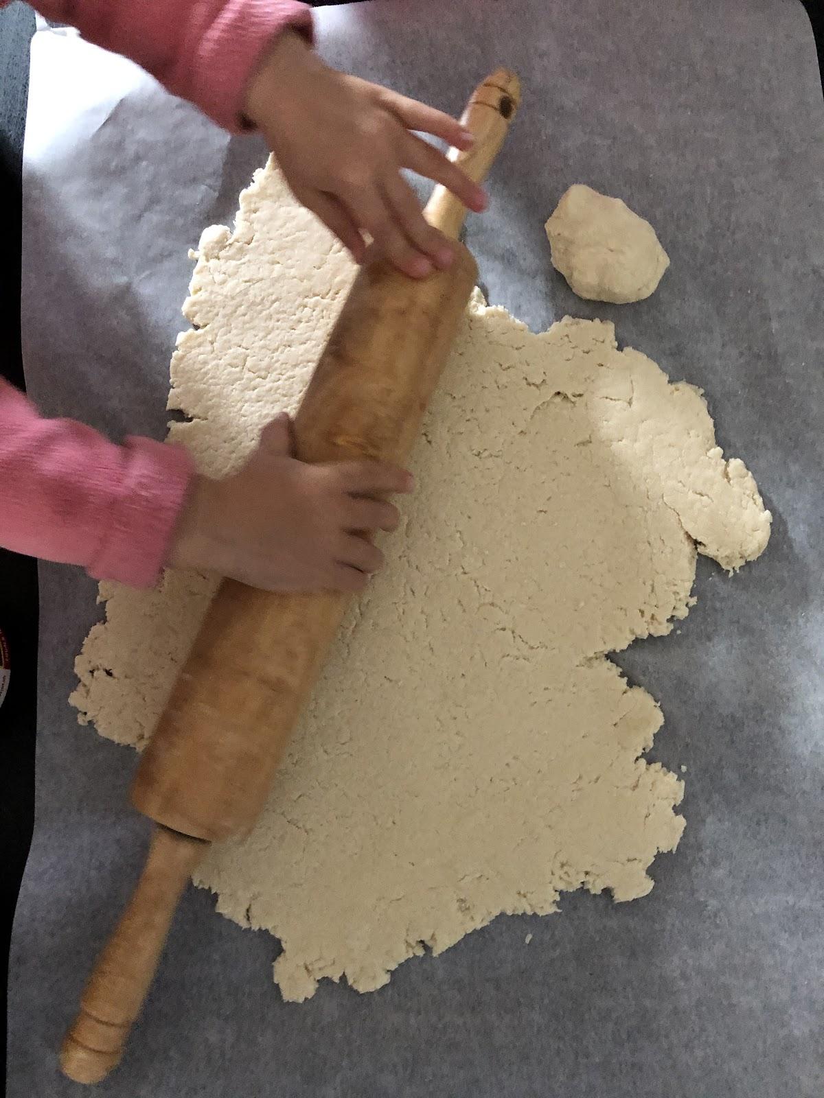 Rolling out the salt dough