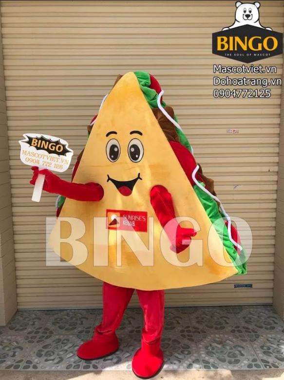 Mascot bánh mỳ tam giác