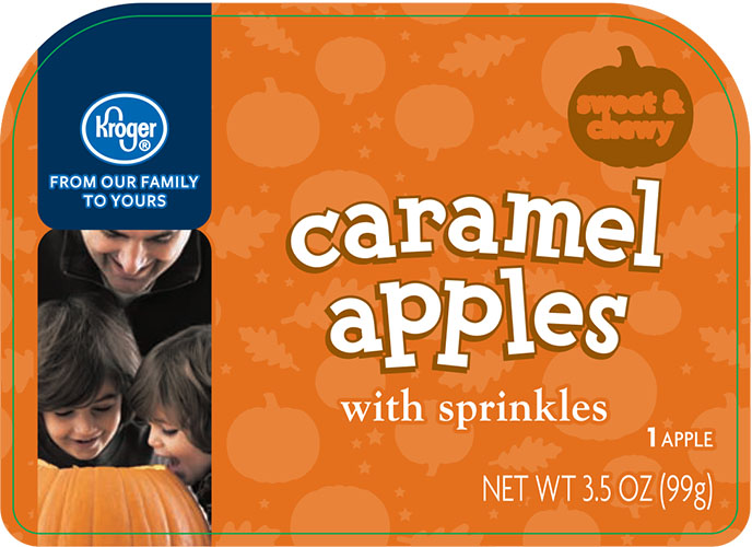 Kroger, Caramel Apples with sprinkles 3.5 oz
