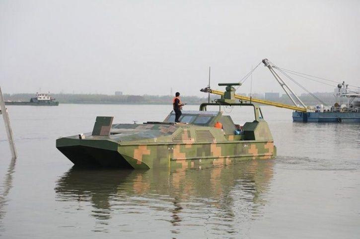 Marine Lizard amphibious drone boat