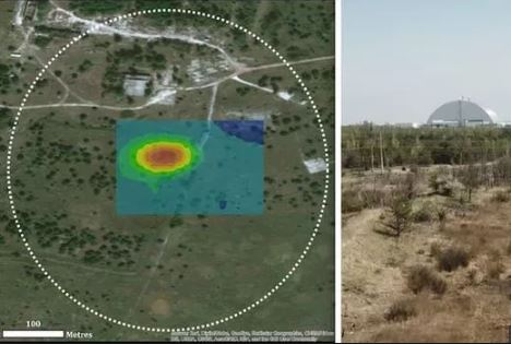 radiation map developed by drones