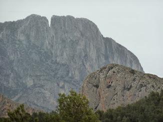 zicht op de bergen