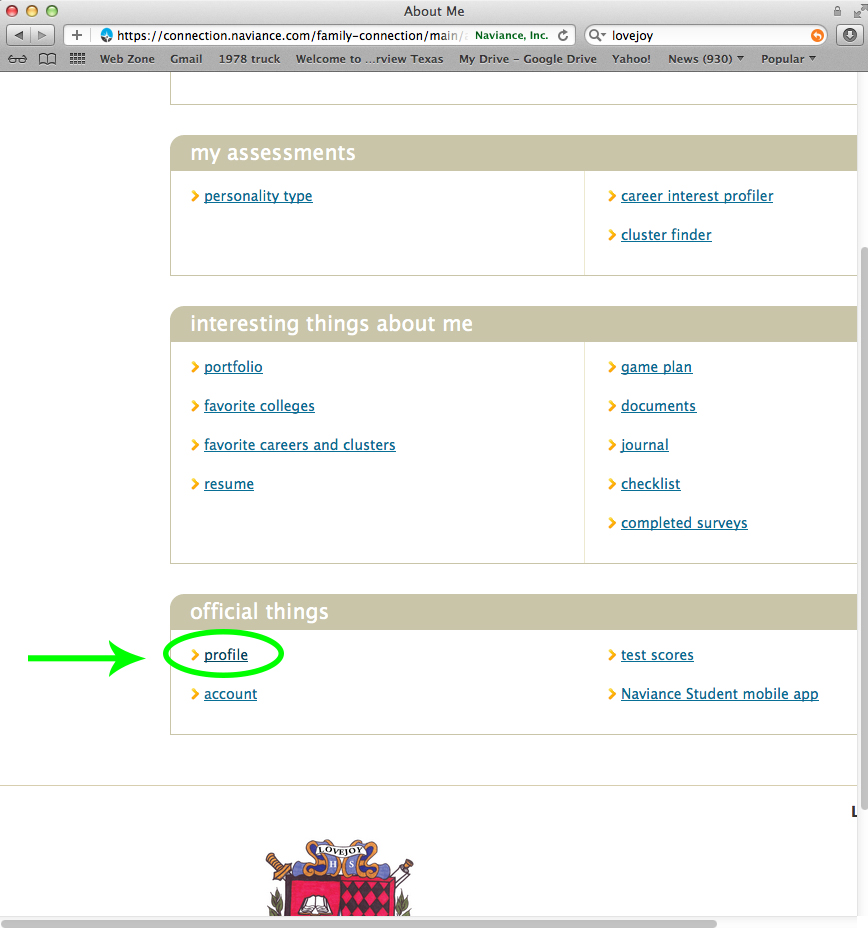 Once You Reach The Bottom Of The Page, You Will See The Lhs Crest, Right  Above It, Find The Tab Official Things Within That Tab, Click On 'profile'