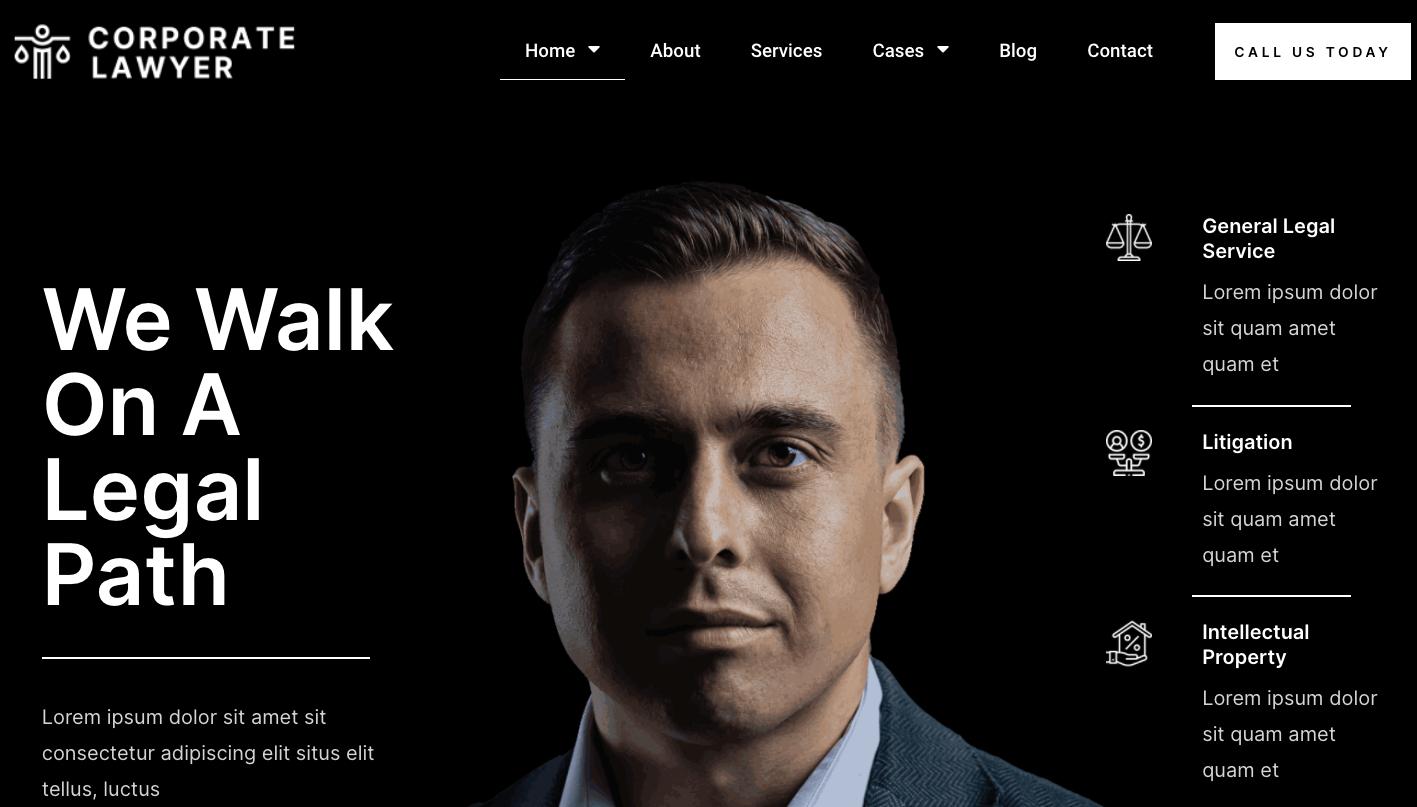 Corporate Lawyer Pro WordPress Theme