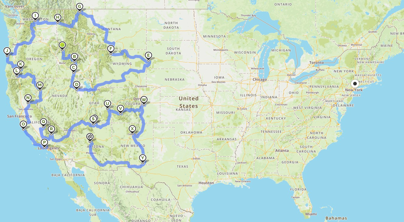 road trip for the most instagrammable places in the USA