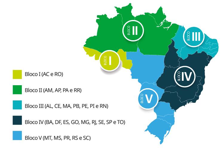 O Brasil foi dividido para facilitar a transição para zonas livres de febre aftosa sem a necessidade de vacinação. (Fonte: Mapa/Reprodução)
