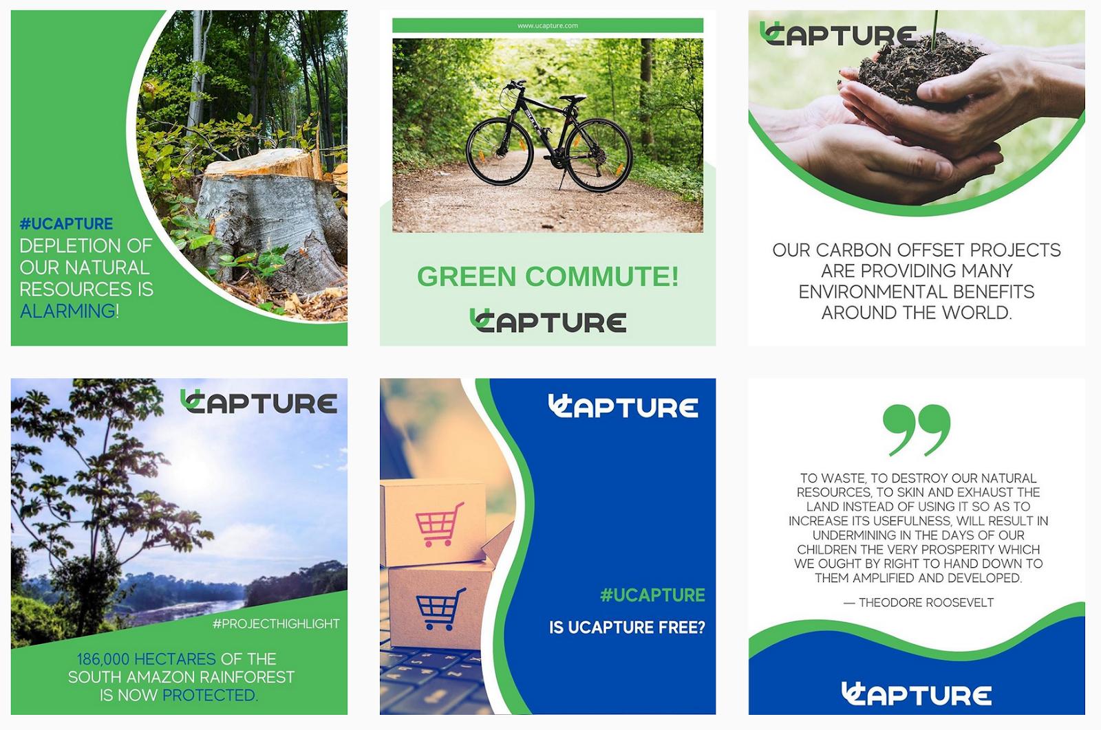 UCapture | Green Social Media Posts