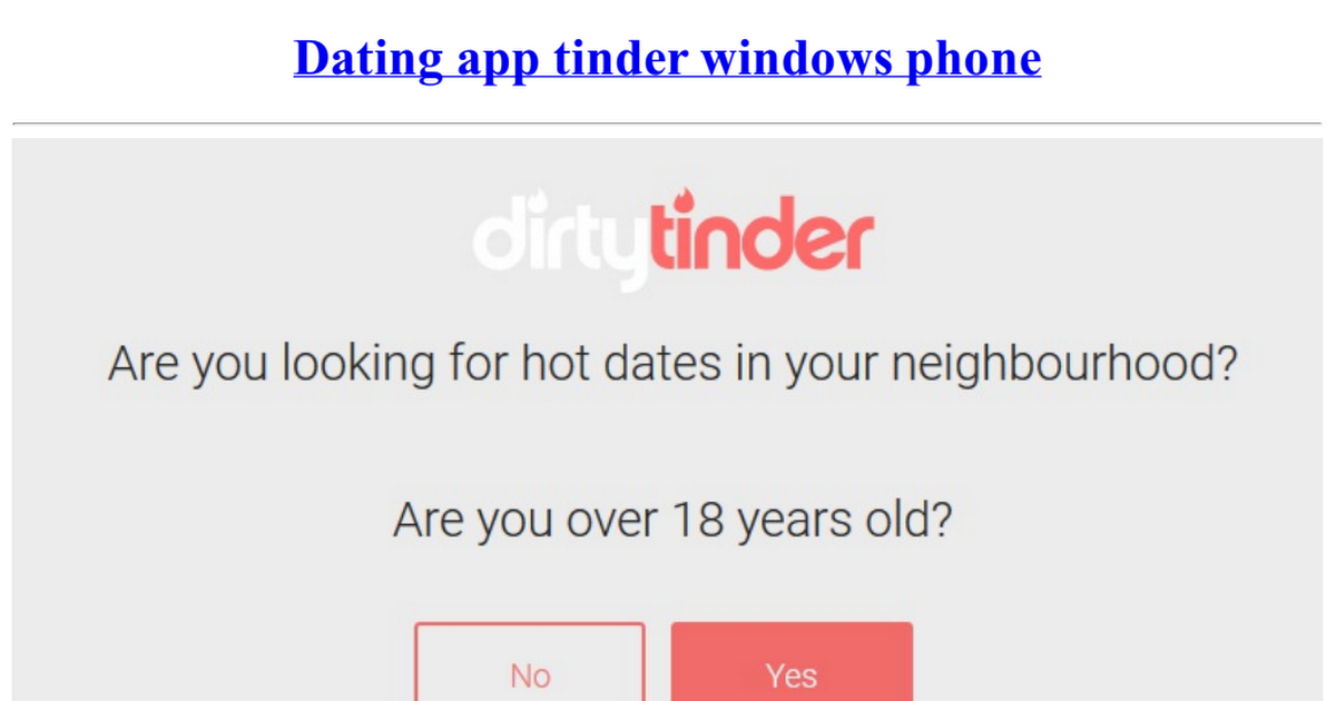 Windows dating app