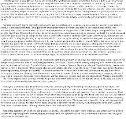 Tolerance essay by em forster summary