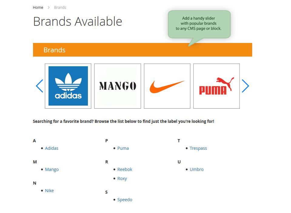 Brands slider