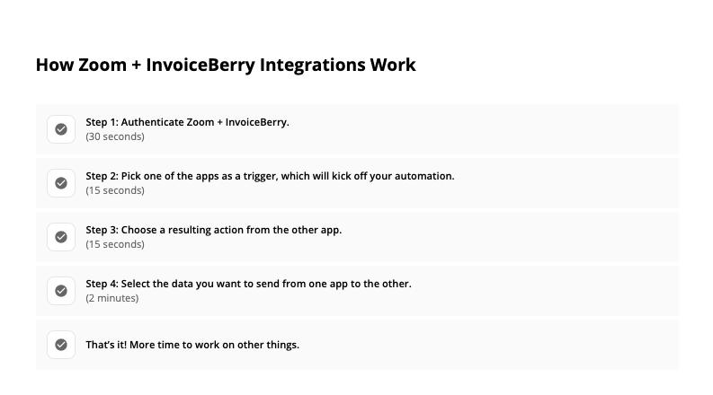 InvoiceBerry Zappier
