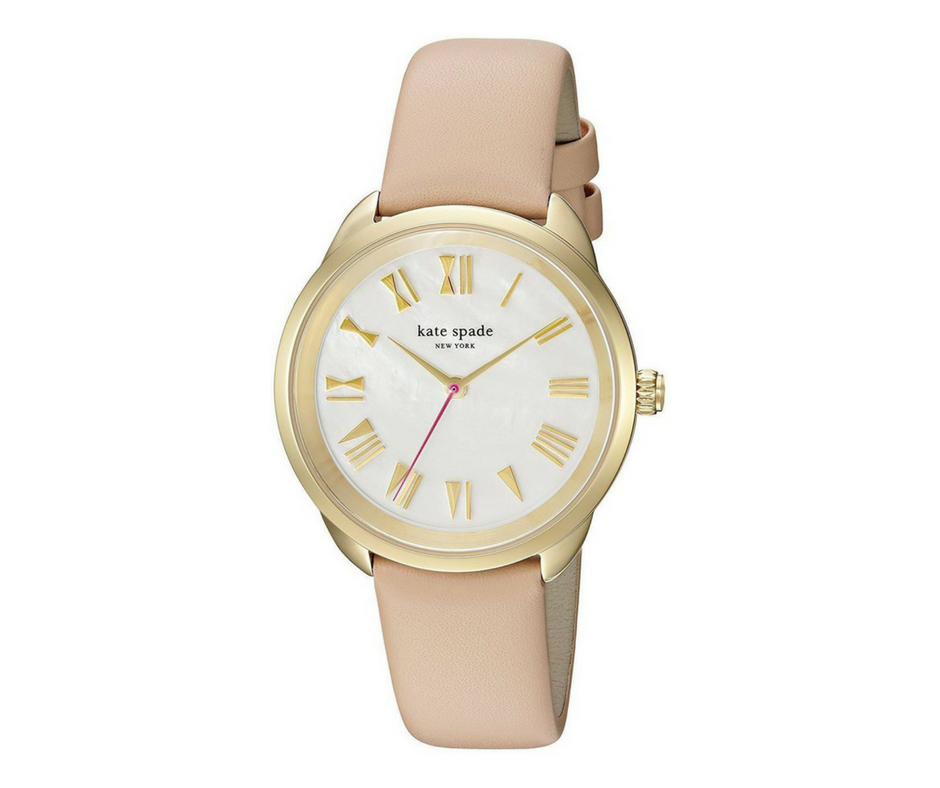 Kate Spade Crosstown Gold Leather Quartz Fashion Women's Watch