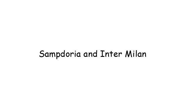 Sampdoria and Inter Milan