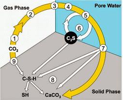 Carbonatación inducida al hormigón