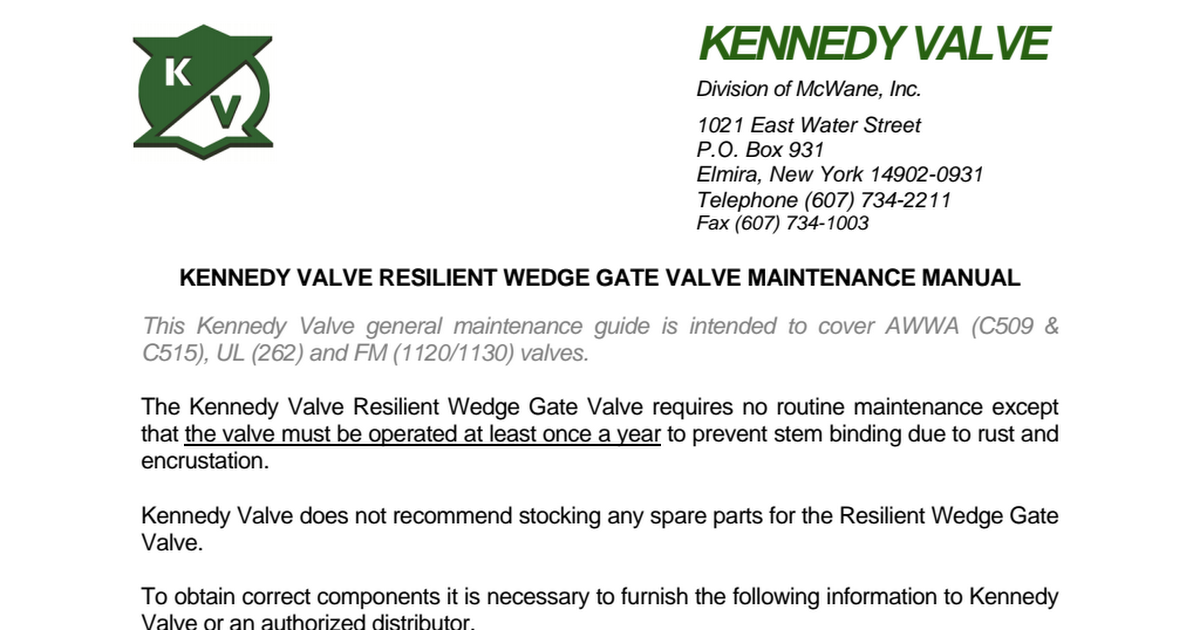 Resilient Wedge Gate Valves pdf - Google Drive