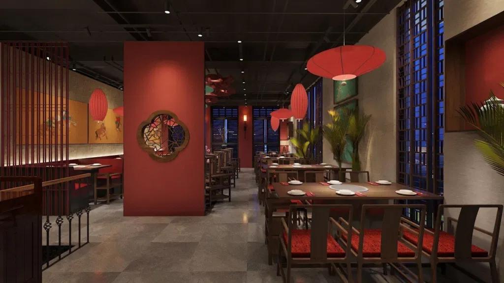 Thiết kế nhà hàng trung hoa diện tích 100-300m2