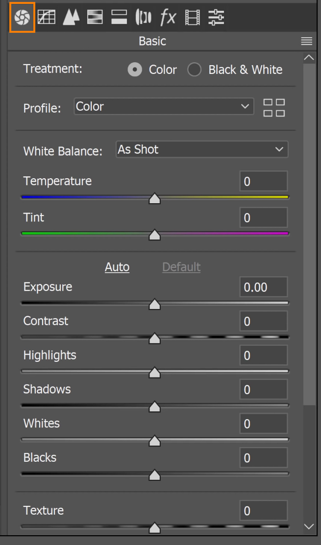 Go back to the Basic panel and use the available sliders to enhance the colors and the details of the image