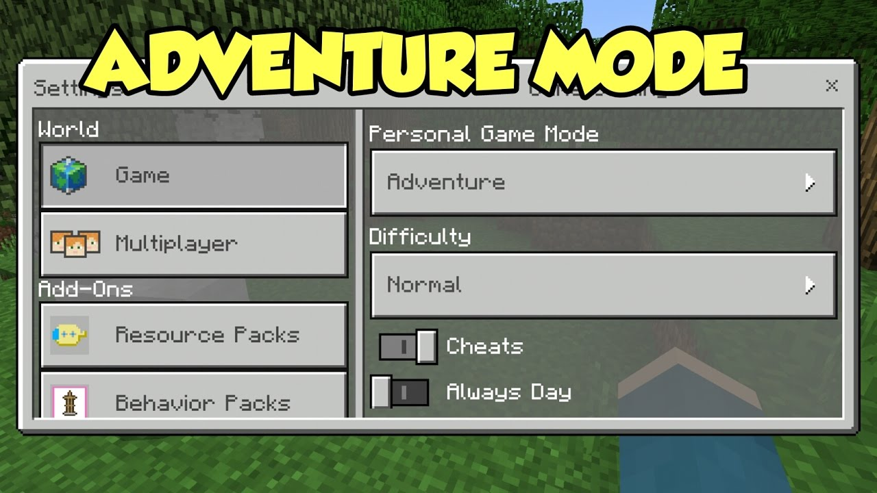 How many game modes in Minecraft - Adventure mode