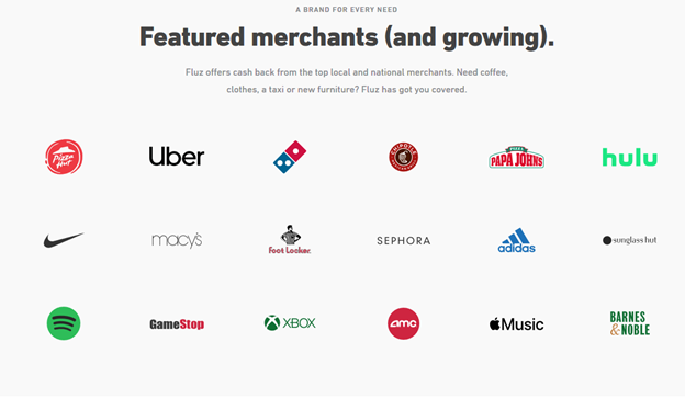 fluz featured merchants