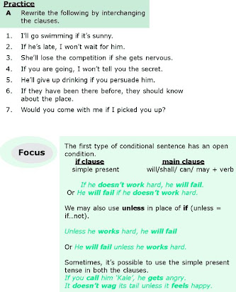 Soal Essay Conditional Sentence Type 1