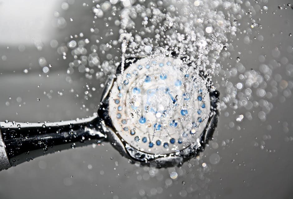 Black Shower Head Switched on