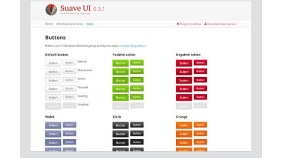 Angular UI Framework:Suave UI