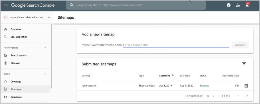 sitemap-search-console