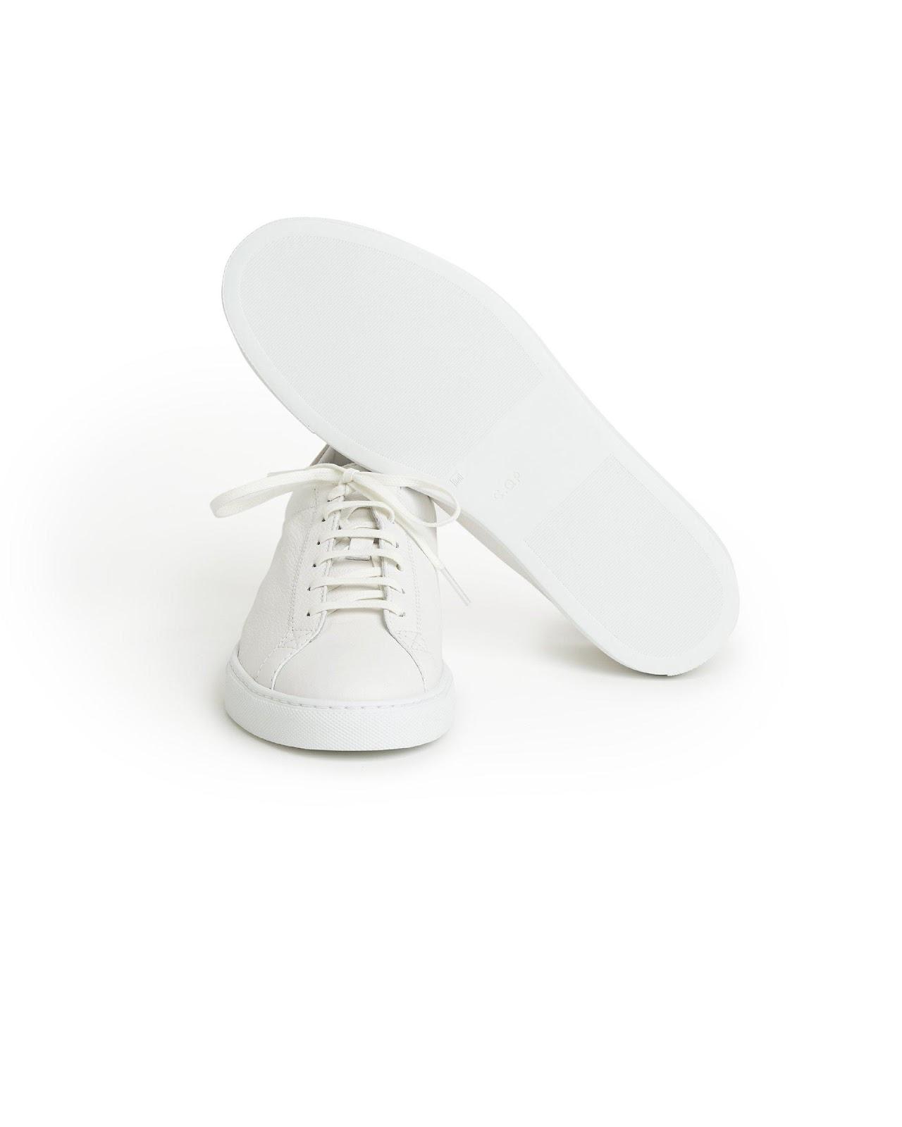 """CQP Racquet Sneaker White Leather"" รองเท้ามินิมอลสไตล์สแกนดิเนเวียน 04"