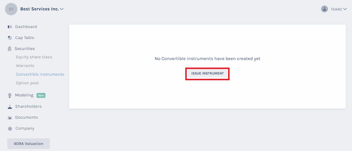 Issue Instrument