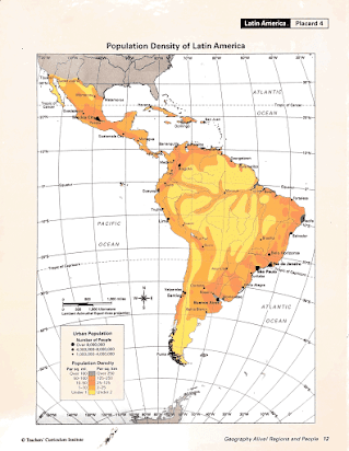Map Of America By Population Density.Latin America Mapping Lab