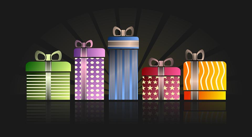 Apresenta, Brindes, Aniversário, Envolto, Natal, Purple