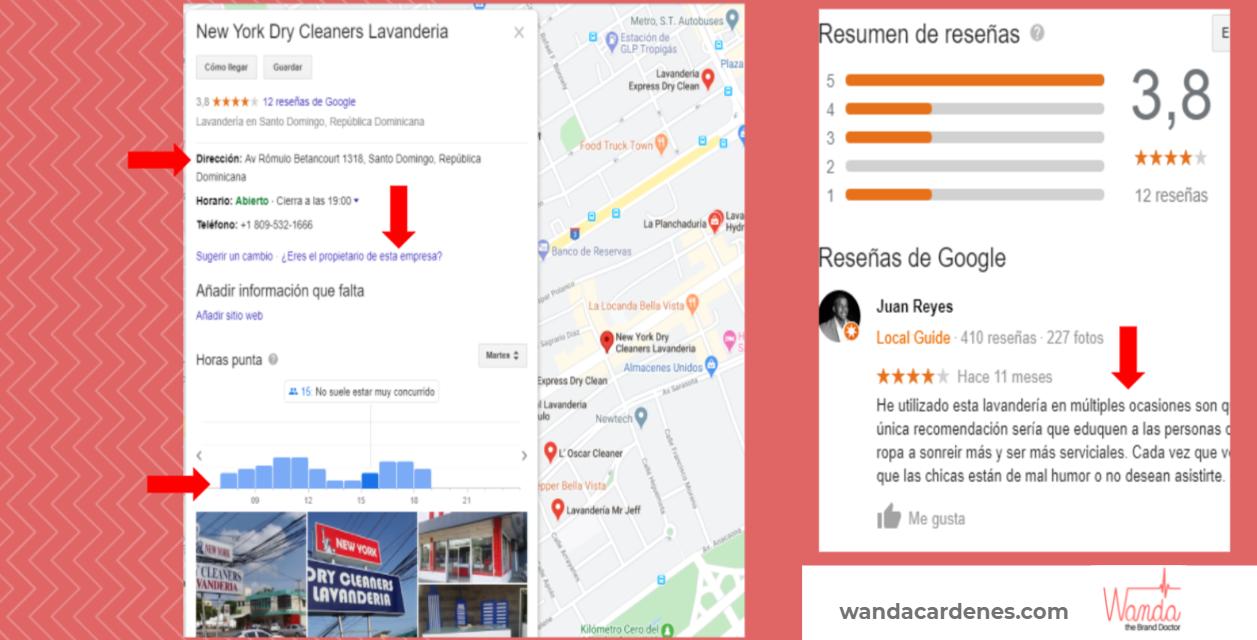 """Resultados de búsqueda en Google """"peluqueria en Bella Vista"""" con Google Mi Negocio"""
