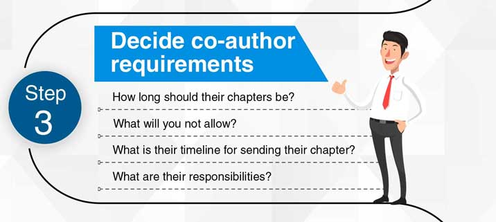 Step 3: Decide co-author requirements.