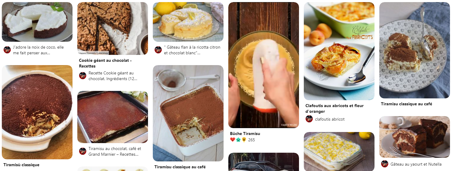 Épingles Pinterest Gâteaux
