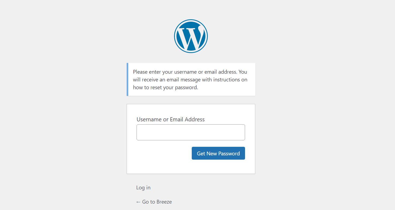 Forgot Password WordPress