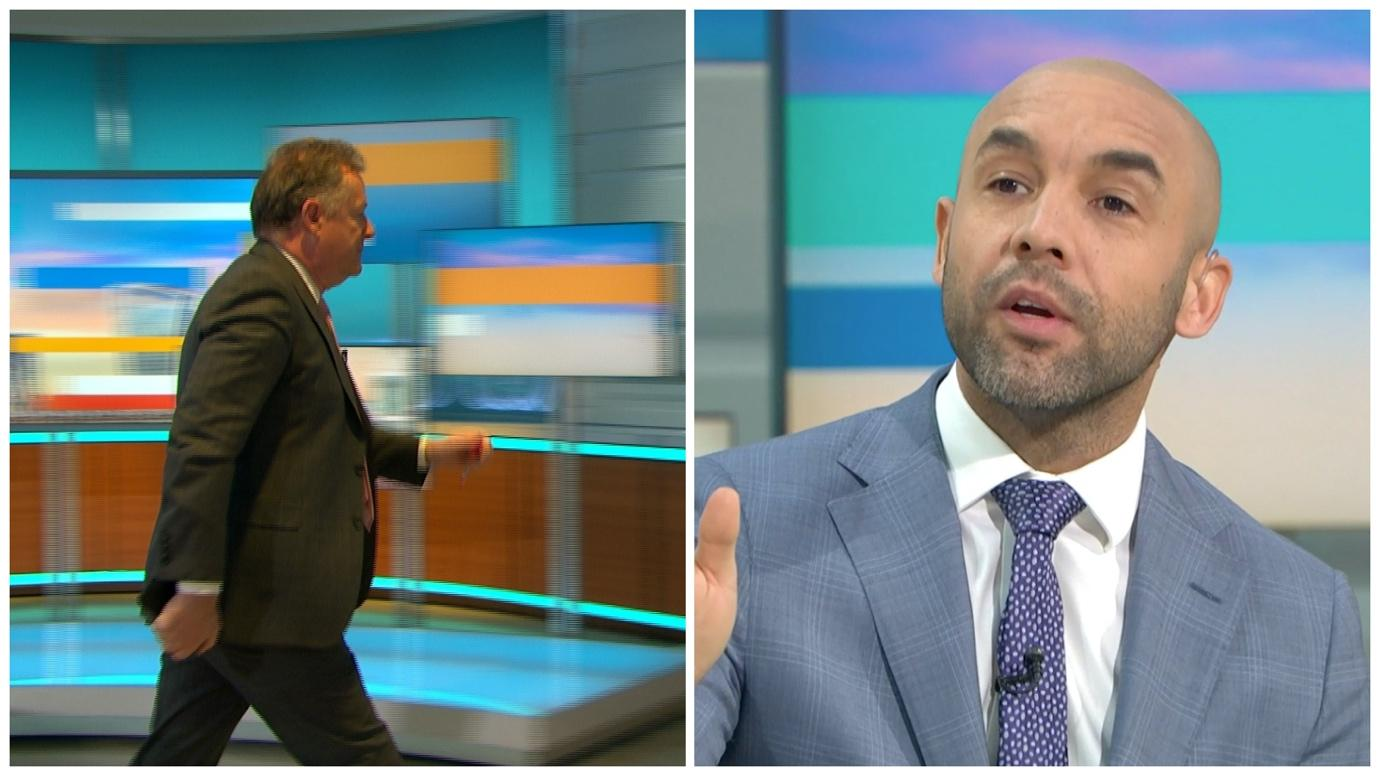 Piers Morgan walks off GMB as Alex Beresford brands his behaviour  'diabolical' in wake of Meghan and Harry interview | ITV News