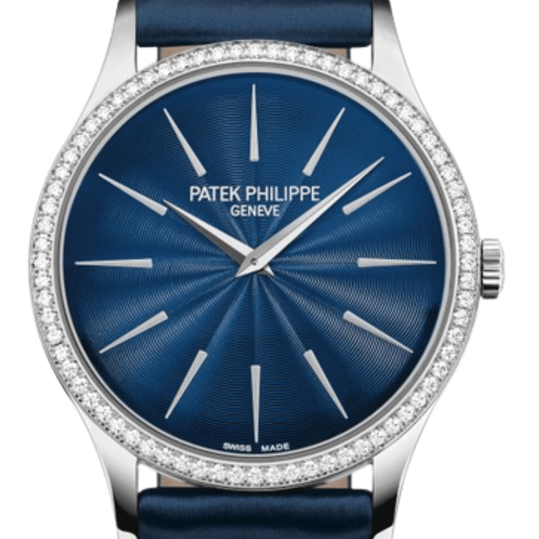 Patek Philippe watch featuring Dagger/Dauphine indices