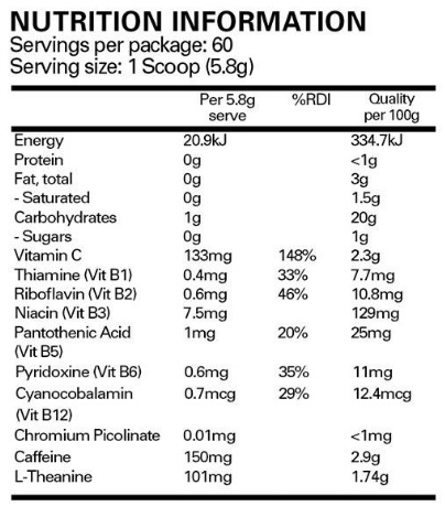ehp labs oxyshred nutritional panel