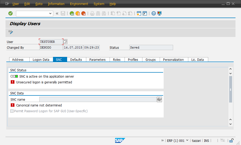 Enabling SNC on SAP Connections
