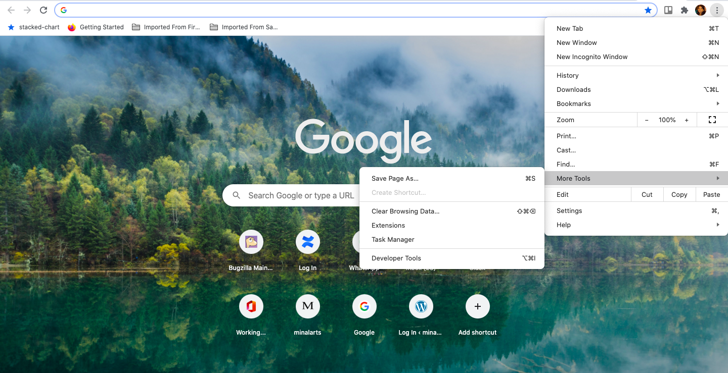 tools in chrome