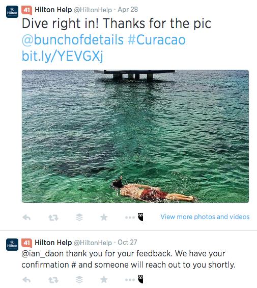 Hilton Help Twitter Customer Service