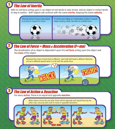 Newton's Laws of Motions in a comic strip