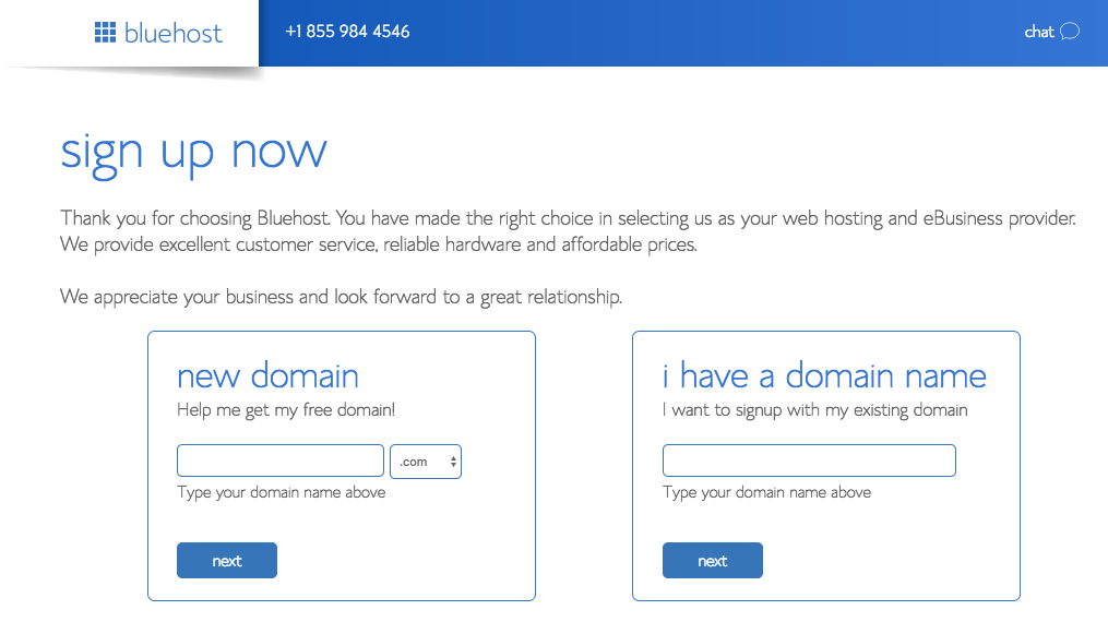 Sign Up Bluehost Blue Host