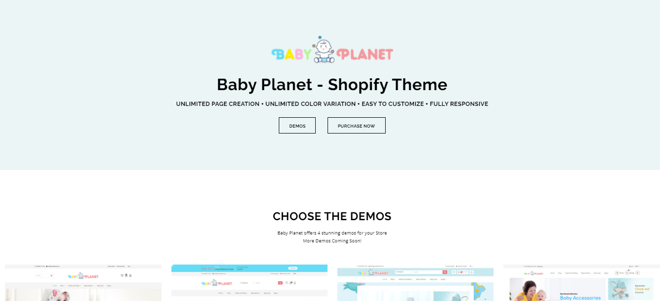 Baby Planet - Shopify bookstore theme