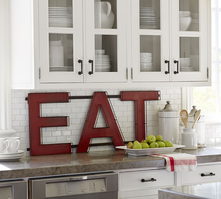 Giant EAT kitchen sign for the kitchen