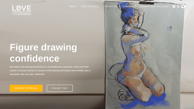 Love Life Drawing was created by a mother-son artist team to help people struggling with life drawing. Both the website and its companion YouTube channel are full of tutorials that have been praised for their simplicity and clarity.