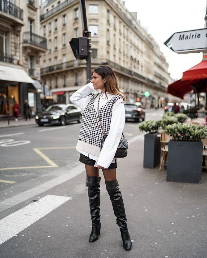 Sweater and a skirt: the most fashionable winter combinations 24