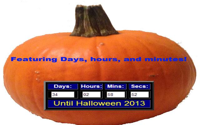 Halloween Countdown chrome extension