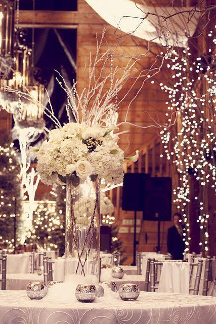 Adding evergreens and seasonal florals to your décor will create a cozy, natural environment.  Winter Wedding Ideas You Will Love – Wedding Soiree Blog by K'Mich, Philadelphia's premier resource for wedding planning and inspiration