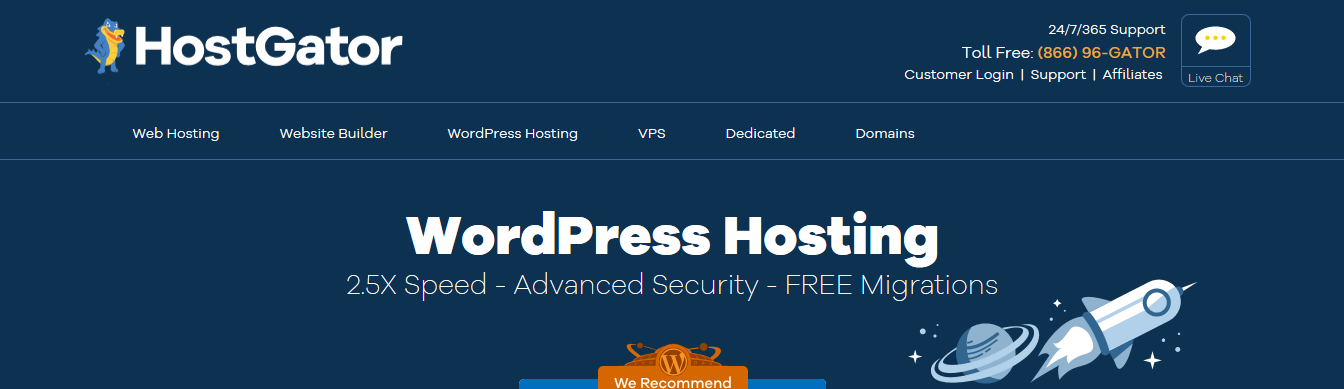 HostGator VPS Hosting for WordPress Site